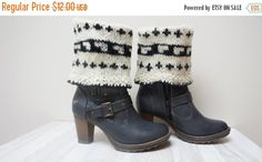 ON SALE Boot cuffs hand knitted Leg warmers by feltinga on Etsy