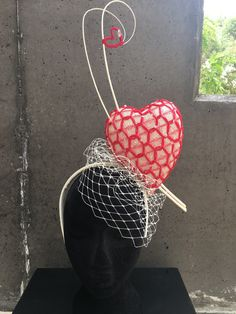 Heart Fascinator by MeerkatMillineryShop on Etsy