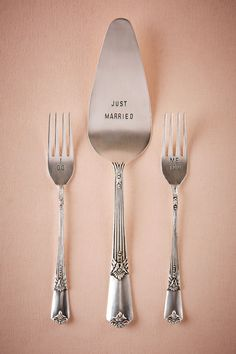 Just Married Serving Set from @BHLDN