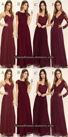 Burgundy Mismatched Bridesmaid Dresses, Long Bridesmaid Dresses With Lace, Bridesmaid Dresses, – Wedding dresses Burgundy Bridesmaid Dresses Long, Winter Bridesmaids, Mismatched Bridesmaid Dresses, Lace Bridesmaids, Best Prom Dresses, Wedding Bridesmaid Dresses, Long Dresses, Christmas Bridesmaid Dresses, Maroon Long Dress
