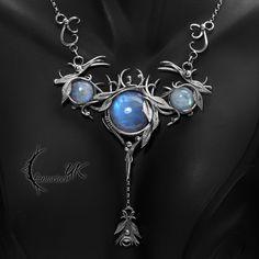 MOONXYNTHRIALL - silver and moonstone by LUNARIEEN.deviantart.com on @DeviantArt