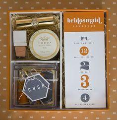 bridesmaid box. (source unknown).