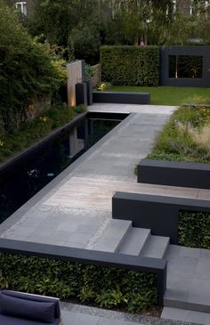 Contemporary Garden Design Fabulous Outdoor Spaces To Inspire Your Garden Transformation.Contemporary Garden Design Fabulous Outdoor Spaces To Inspire Your Garden Transformation Modern Landscaping, Backyard Landscaping, Landscaping Ideas, Backyard Ideas, Back Garden Ideas, Pool Backyard, Back Gardens, Outdoor Gardens, Outdoor Garden Rooms