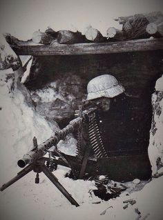 Somewhere on the Eastern Front. The lone machine gunner..APR16.
