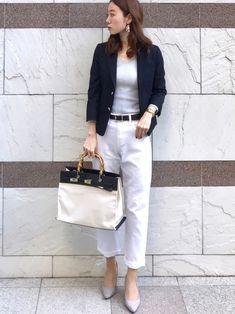 夏のオフィスカジュアルコーデ特集!【GU・ユニクロ】プチプラスタイルもご紹介♪ | folk Business Attire, Office Fashion, Hermes Kelly, Clothes For Women, Chic, Womens Fashion, How To Wear, Pants, Outfits