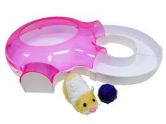 Zhu Zhu Pets Hamster House Starter Set (Hamster Varies) by Cepia. $8.95. From the Manufacturer                Welcome to the world of Cepia's cute and furry robotic hamsters and accessories                                    Product Description                The Zhu Zhu Pets Hamster House Starter Set features Patches or YoYo, an exclusive Hamster who loves to explore his special track playset. He has special fun playing with and pushing his wobble ball around his exciting and...