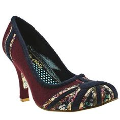 Women's Burgundy Irregular Choice - Cortesan Patty Floral Court