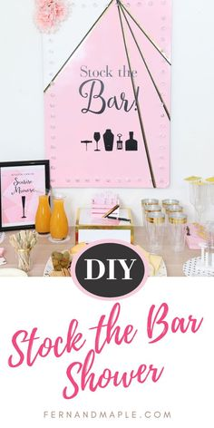 Throw a unique Stock the Bar Couple's Shower with a DIY light up bar sign, a variety of DIY bar trays, and FREE printables! Get all of the details now at fernandmaple.com!