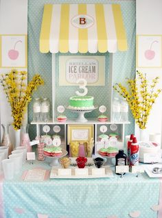 Ice Cream Parlor Birthday Party via Kara's Party Ideas | KarasPartyIdeas.com (31)