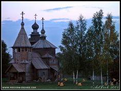 Wood churches near birches.