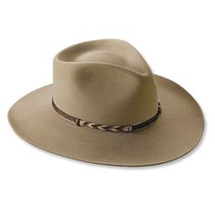 Orvis Stetson Buffalo-Fur Ranchers Hat: Quality Western Hats for Fishing and Other Outdoor Activities Western Hats, Western Outfits, Cowboy Hats, Auto Camping, Millinery Hats, Headgear, Hats For Men, Fly Fishing, Caps Hats
