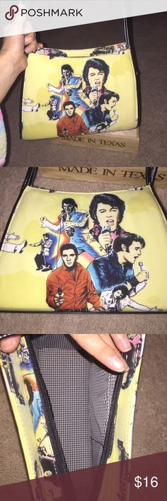 Elvis shoulder bag Good shape . Used a couple of times . . Few statism hear and there . Only can see if you look closing . God most of it out . Good shape . No rips or tears Bags Shoulder Bags