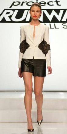 Project Runway All Stars Season 2 - Ivy's lace inset jacket