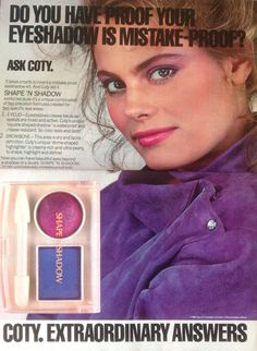 I'm pretty sure I had this eye shadow back in the 80s.   It sort of looked like you had a black eye.
