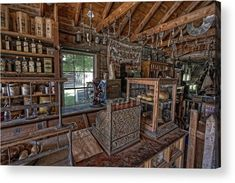 General Store Photograph - Counter Of Old West General Store - Montana by Daniel Hagerman Old General Stores, Old Country Stores, Country Life, Nocturne, Old West Decor, Old Western Towns, Old West Town, Old Stove, Vintage Interiors