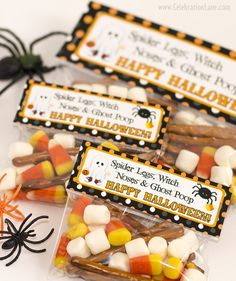halloween treat bag tags free for personal use make for your kids preschool friends - Kids Halloween Treat Bags