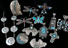 turquoise jewelry native american | Stunning Native American Jewelry Lot Old Pawn Turquoise Coral Sterling