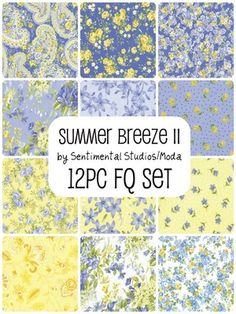 country french blue & yellow florals