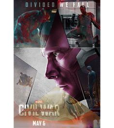 4 of 5. - Source: franklcastle on tumblr. Captain America: Civil War character posters: #TeamIronMan - Vision. - Click through for the motion poster.