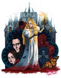 Crimson Peak Print, Fan art, Illustration, Halloween, art, Ghost, Haunted house, Movie art, Book illustration,JPEG, instant download,