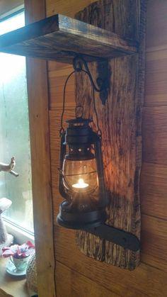 For my tinkerbell and captain hook guest cabin, vintage lighting, rustic lighting, diy Pallet Furniture, Rustic Furniture, Unique Furniture, Furniture Ideas, Rustic Decor, Farmhouse Decor, Rustic Wood Crafts, Farmhouse Garden, Diy Casa