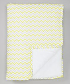 Take a look at this Yellow & Gray Zigzag Minky Receiving Blanket by Tiny Curiosity on #zulily today!