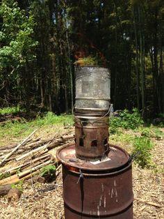 自作ドラム缶TLUDストーブの作り方
