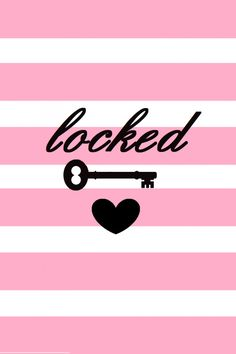 Pink Locked iPhone wallpaper