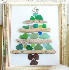 40 outstanding seashell craft ideas and sea glass craft ideas. Make beautiful crafts using seashells and sea glass. Project ideas for kids crafts and adult crafts. Driftwood Christmas Tree, Beach Christmas, Christmas Crafts, Christmas Decorations, Christmas Ornaments, Coastal Christmas Decor, Christmas Candle, Snowman Crafts, Christmas Items