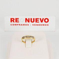 Comprar Media alianza de oro con diamantes de segunda mano E297425A   Tienda online de segunda mano en Barcelona Re-Nuevo