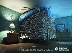 4 million bucks. The New year Jackpot. Advertising Agency: Braga Menendez, Buenos Aires, Argentina Creative Director: Bruno Gerondi Art Director: H