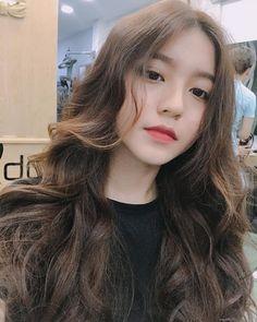 She's from Vietnamese Girl Korea, Ulzzang Korean Girl, Uzzlang Girl, Girl Hairstyles, Asian Beauty, Cute Girls, Hair Inspiration, My Hair, Asian Girl