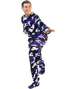 Purple Camo Footed Pajamas.....hahahaha would be soo funny to buy a352291a5