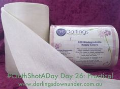 #ClothShotADay Day 26: Practical Flushable liners are a practical way of dealing with poo. Darlings Downunder @DarlingsDU