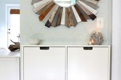 Gold paint adds an elegant touch with this simple Ikea upgrade.