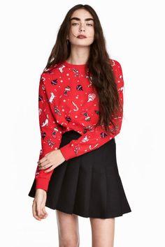 39,90 zł rozmiar M;Bluza z nadrukiem - Czerwony/Święta - ONA | H&M PL 1