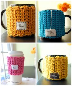 Personalized Tea Mug Cozy - Customize this Coffee Cup Cosy - Made to Order