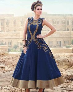 Navy blue gown for women Code : S1043 Size : Free Color : Blue Fabric : Art silk Type : Printed Occasion : Festive, Wedding, Ceremony. Neck Type : Round Neck Sleeve Type : Sleeveless  Price : 2600 INR Only ! #Booknow  CASH ON DELIVERY Available In India !  World Wide Shipping ! ✈  For orders / enquiry  WhatsApp @ +91-9054562754 Or Inbox Us , Worldwide Shipping ! ✈ #SHOPNOW  #fashion #lookbook #outfitsociety #fashiongram #dress #model #urbanfashion #luxury #fashionstu..