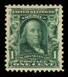 Collectors Corner - Scott# 300, 1903 1c Blue green, PSE NG 0, Mint OGnh