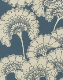 I love the blue, it is soft but still royal and strong. The pattern is beautiful and I love the shape of the flowers.