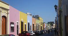 Die bunten Häuser von Campeche. Wunderschön!