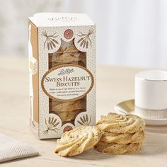 Swiss Hazelnut Biscuit Box | £4.75 | These melt-in-the-mouth biscuits are made to a special Swiss recipe, combining hazelnuts with the delicious flavours of cinnamon and nutmeg.
