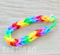 """Make a Double Fishtail Loom Band bracelet using your fingers. """"Love how my 6 and 4yrs old kids are able to do this!"""""""