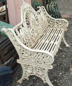 Gorgeous cast iron bench I will never buy another wooden bench!