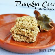 Pumpkin Caramel Rice Crispy Treats
