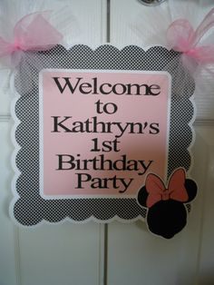 Minnie Mouse Silhouette Door Sign by ASweetCelebration on Etsy Minnie Mouse Silhouette, Minnie Mouse Party Decorations, 1st Birthday Parties, Birthday Ideas, Door Signs, Party Planning, Party Themes, Unique Jewelry, Frame