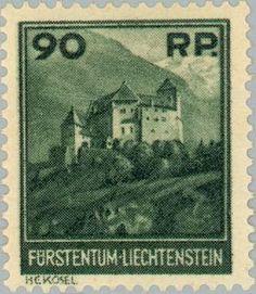 Sello: Gutenberg castle (Liechtenstein) (Landscapes) Mi:LI 120,Yt:LI 112,Zum:LI 99