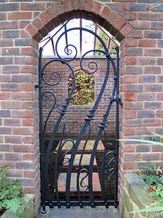 etrance to garden gates | Hortus forged contemporary garden gate - James Price Blacksmith
