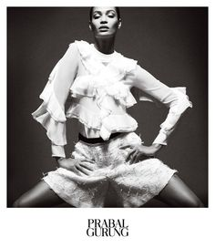 Prabal Gurung Taps Joan Smalls for Spring 2013 Campaign by Daniel Jackson  Fashion Gone Rogue The Latest in Editorials and Campaigns