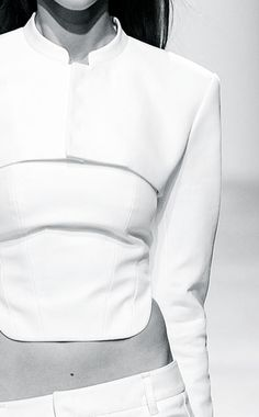 Sleek White Tailoring - minimalist fashion details // Barbara Bui Spring 2015